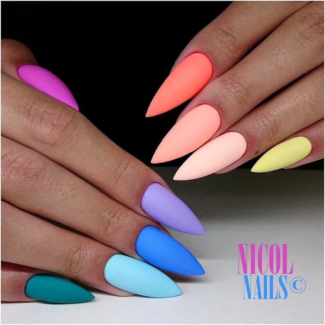 Nicol Nails On Instagram Funky Style Nebo Jim Muzeme Rikat Lentilkove Nehty Venku Zacina Letni Pocasi Tak To Musi L Gel Nails Nails Beautiful Nails
