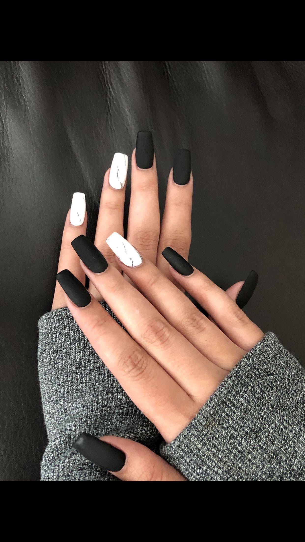 Awesome 43 Cute Black Nail Art Designs Akrylove Nehty Gelove Nehty A Design Nehtu