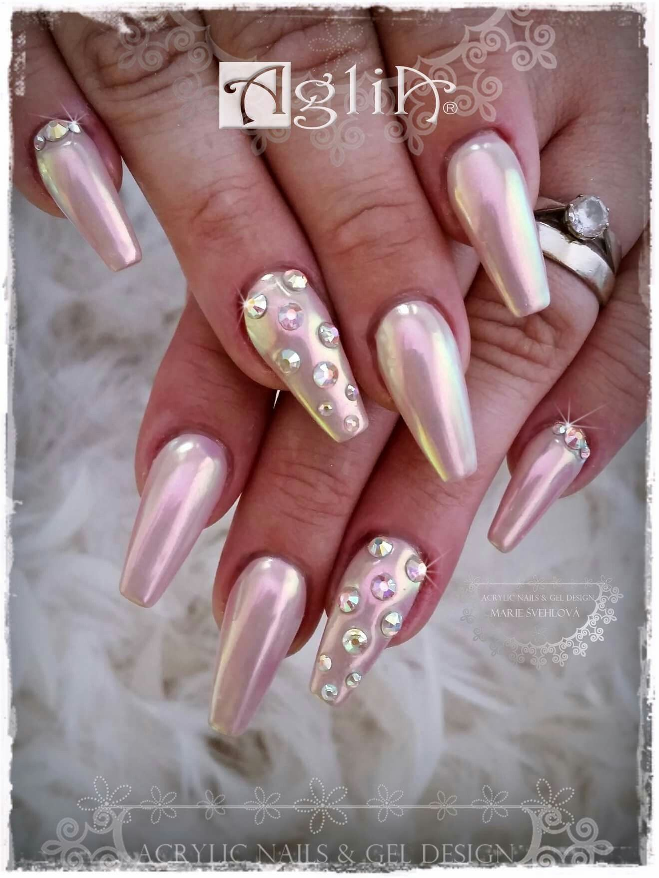 Acrylic Nails Gel Design Aurora Pigment