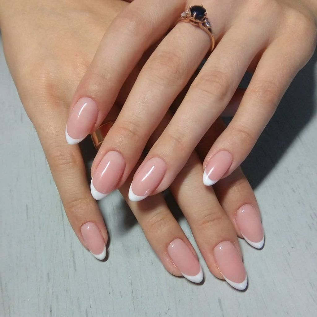 9 Stunning Modern French Manicure Ideas French Manicure Acrylic Nails Gel Nails French Almond Nails Designs