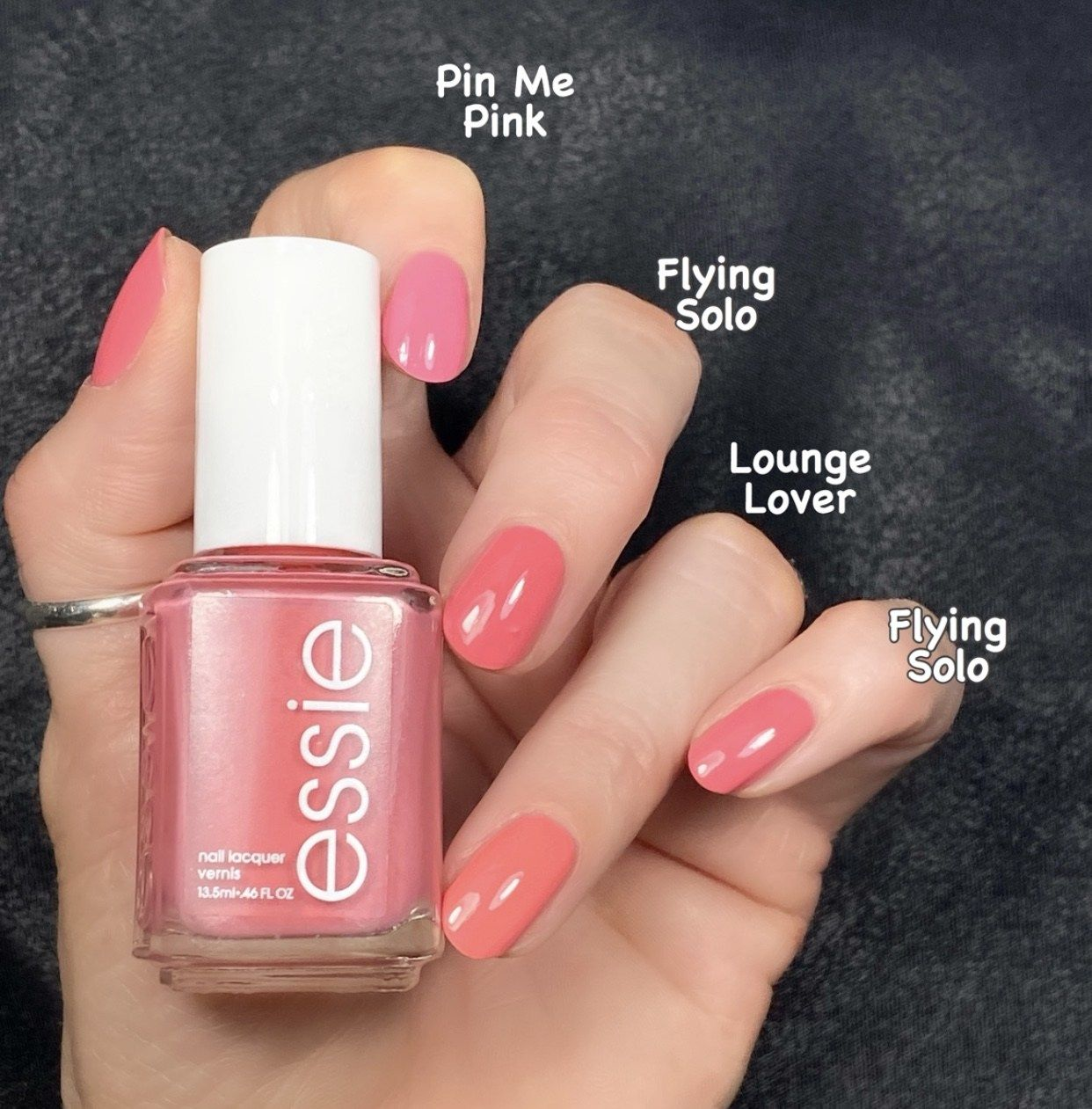 Essie Flying Solo Collection Comparison Swatches Livwithbiv In 2020 Essie Nail Colors Essie Essie Nail