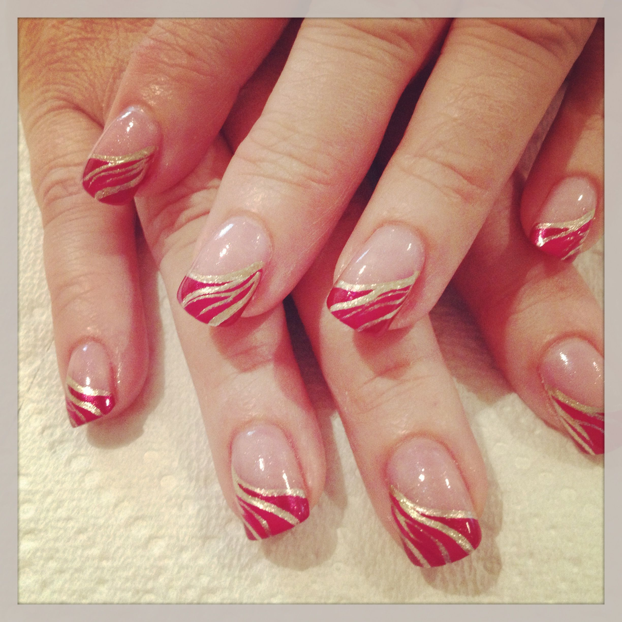 Fancy French Nail Tip Designs Gel Nails French French Tip Nail Designs