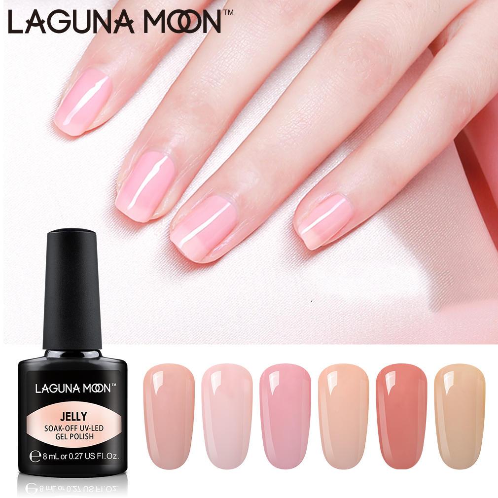 Lagunamoon Nude Color Jelly Gel Nail Polish Semi Permanent Soak Off Diy Uv Led Lamp 8ml Enamel Gel Polish Varnish Gellak Lacquer Nail Gel Aliexpress