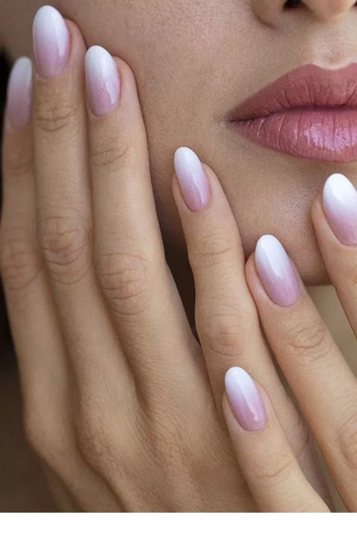 50 Wedding Natural Gel Nails Design Ideas For Bride 2019 52 With Images Ombre Nehty Svatebni Nehty Gelove Nehty