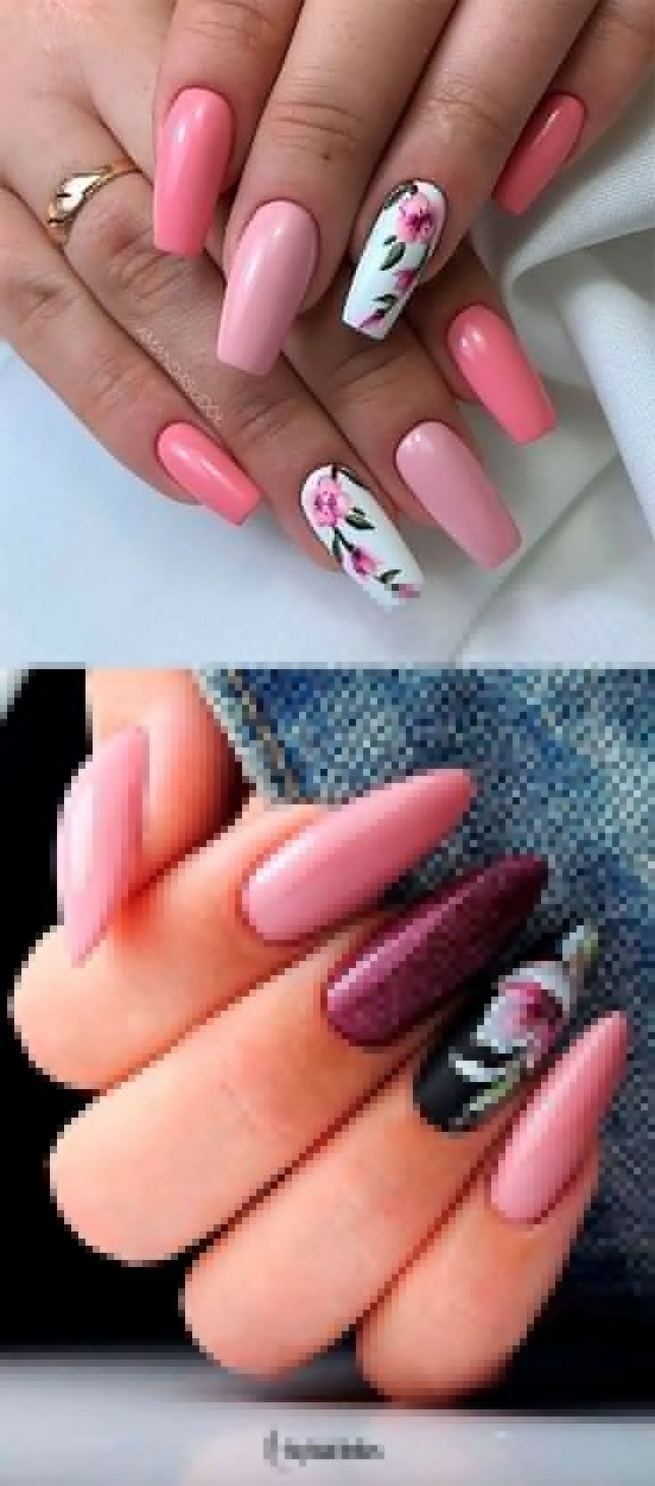 13 Unique Spring Nail Art Design Ideas In 2020 Gelove Nehty Design Nehtu Nehet