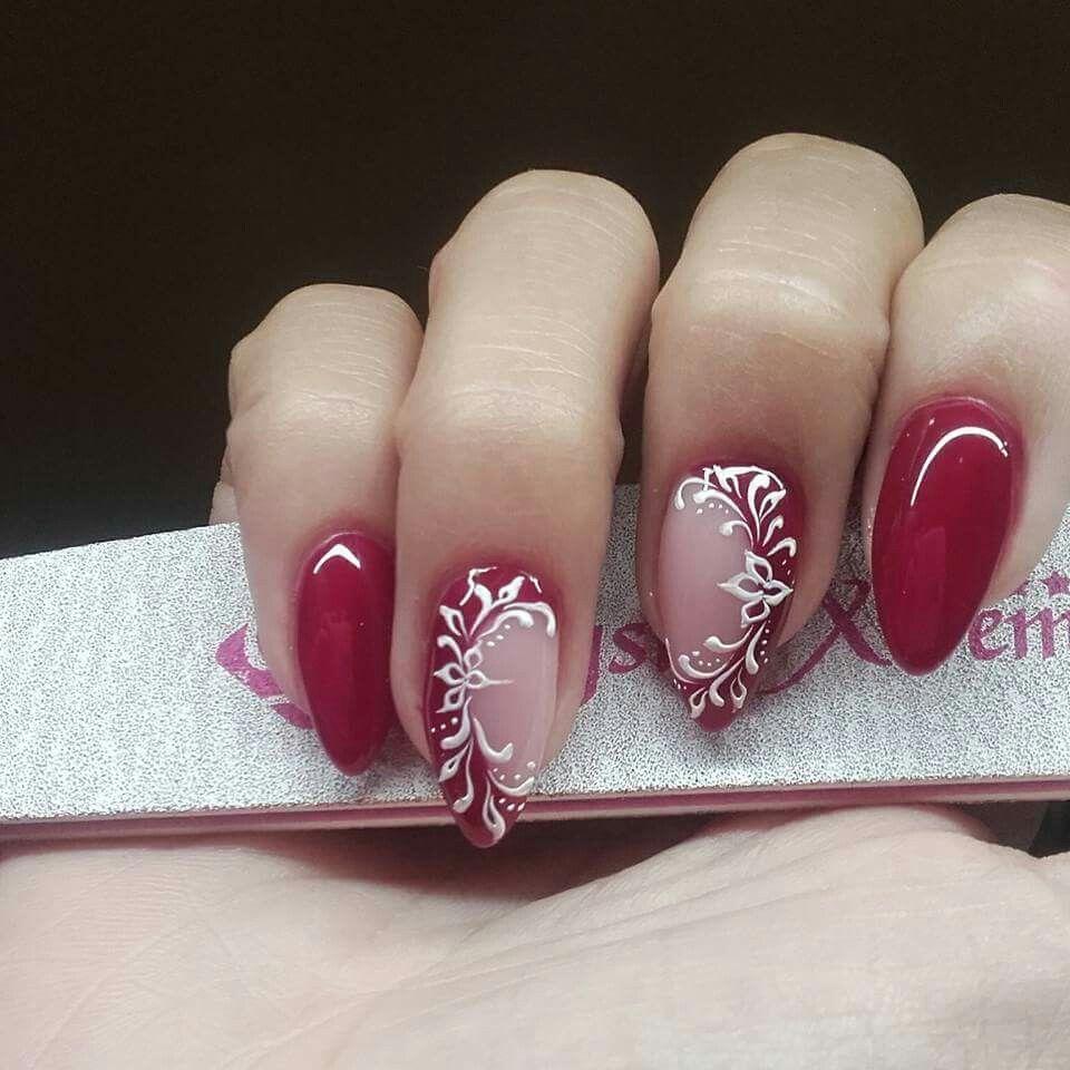 Beautiful With Images Cervene Nehty Design Nehtu Gelove Nehty
