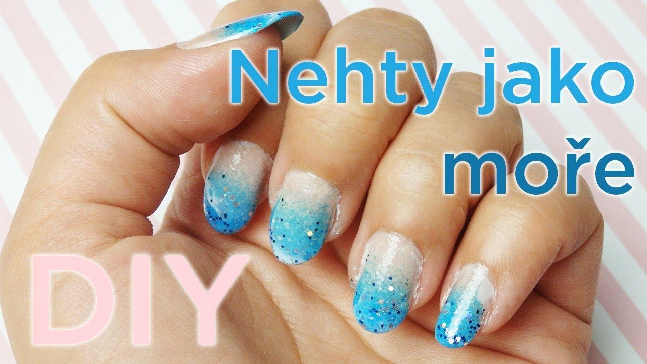 Diy Nail Art Nehty S Imitaci More Youtube