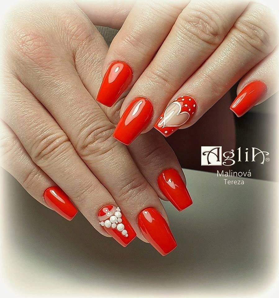 Cervene Nehty Chilli Red Nails Uv Gel Gel