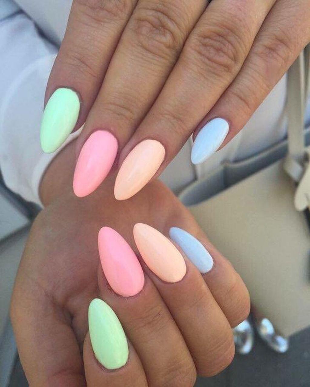 30 Gorgeous Natural Summer Nail Color Designs Ideas In 2020 Pastelove Nehty Gelove Nehty Design Nehtu