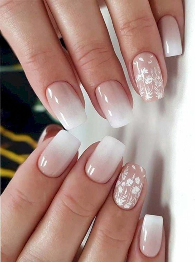 25 Glam Ideas For Ombre Nails In 2020 Lace Nail Design Ombre Nail Designs Ombre Nail Art Designs