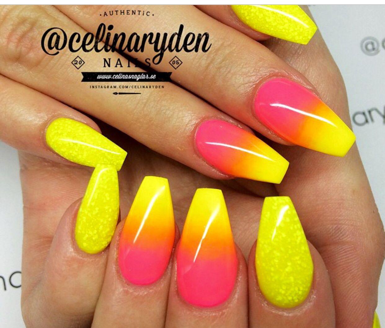 I Love That Sparkly Yellow Neonove Nehty Nehty Akrylove Nehty