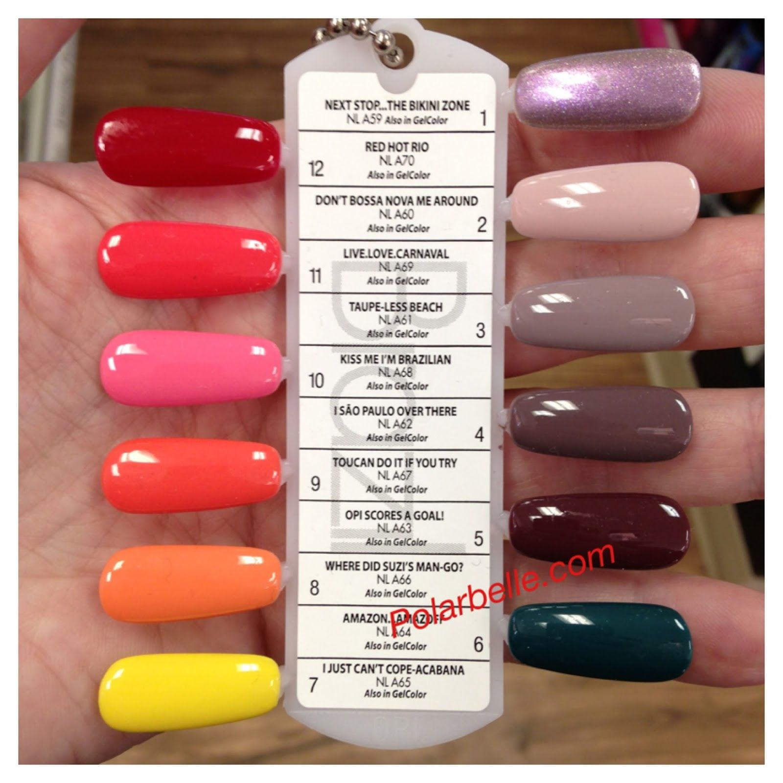 New Opi Brazil Nail Polish Collection Pics Swatches With Names Polarbelle Nail Polish Color Names Opi Gel Nails Opi Gel Nail Polish