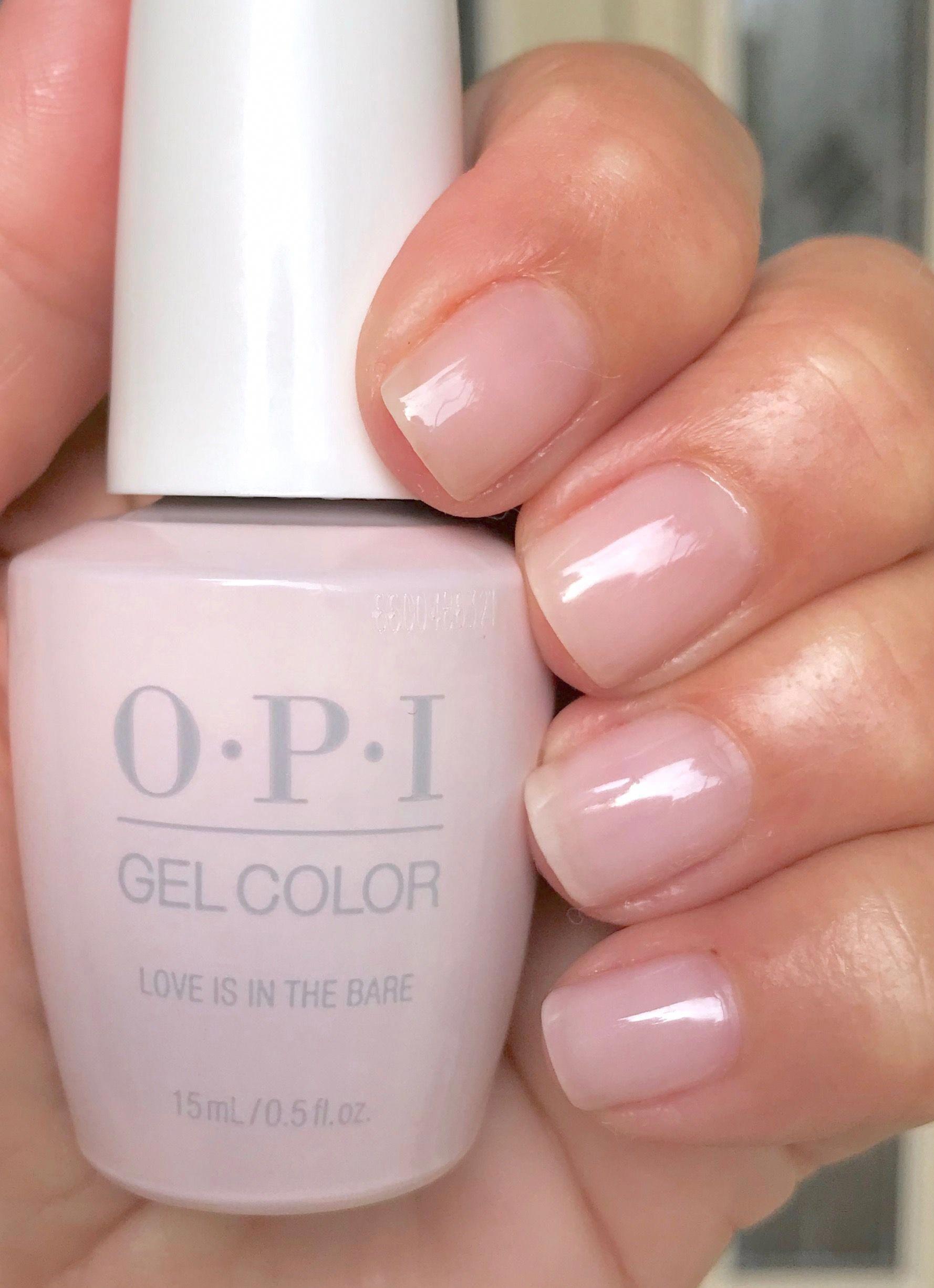 Opi Love Is In The Bare 2 Coats Fingernailart Design Nehtu Nehty Design