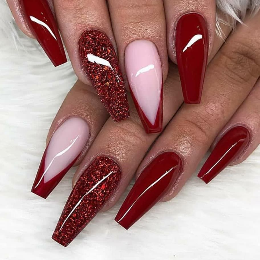 60 Simple Acrylic Coffin Nails Designs Ideas For 2019 In 2020 Gelove Nehty Nehty Napady Na Nehty
