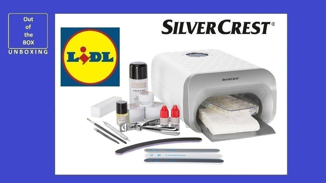 Silvercrest Nail Studio Set Sns 45 B4 Unboxing Lidl 45w Uv A Lamp Type 3 Youtube