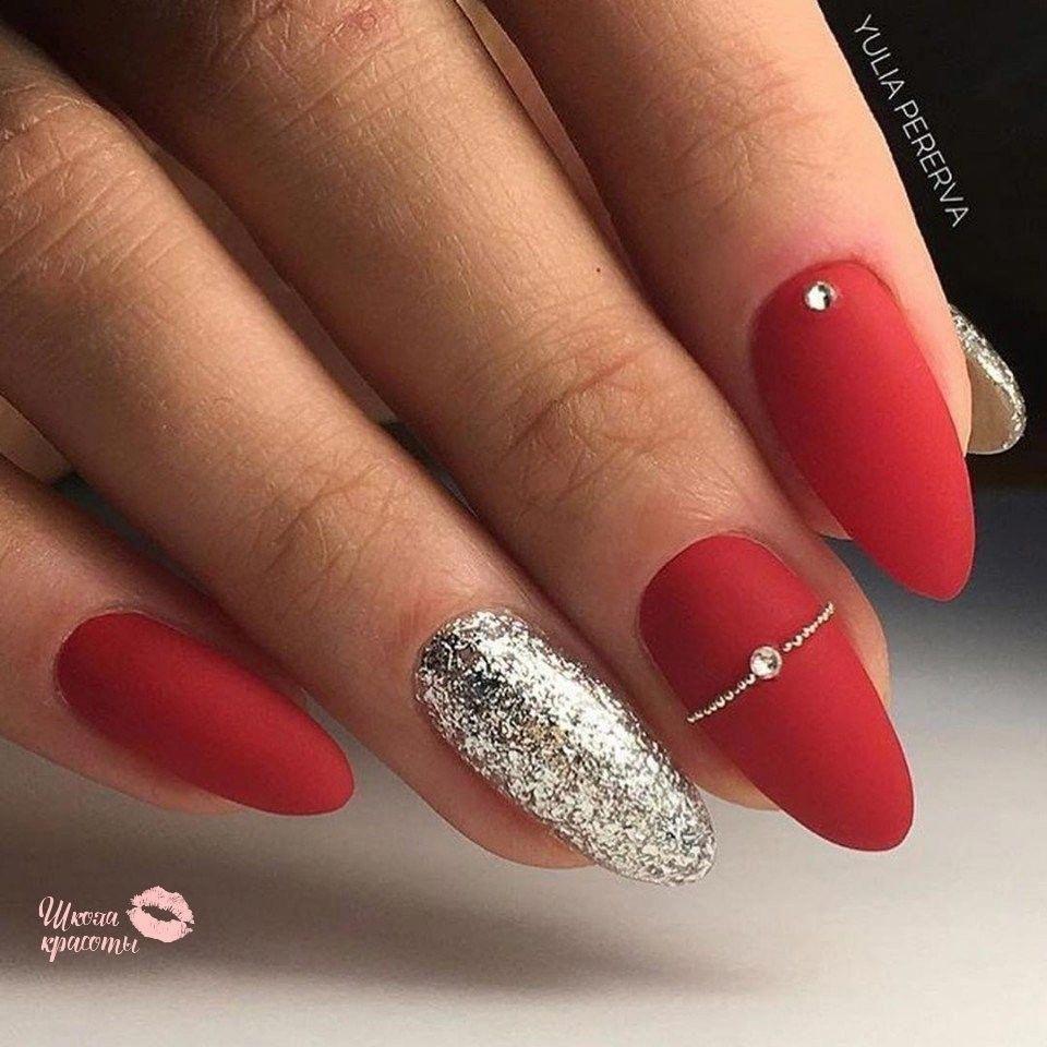 Akrylové Nehty červené