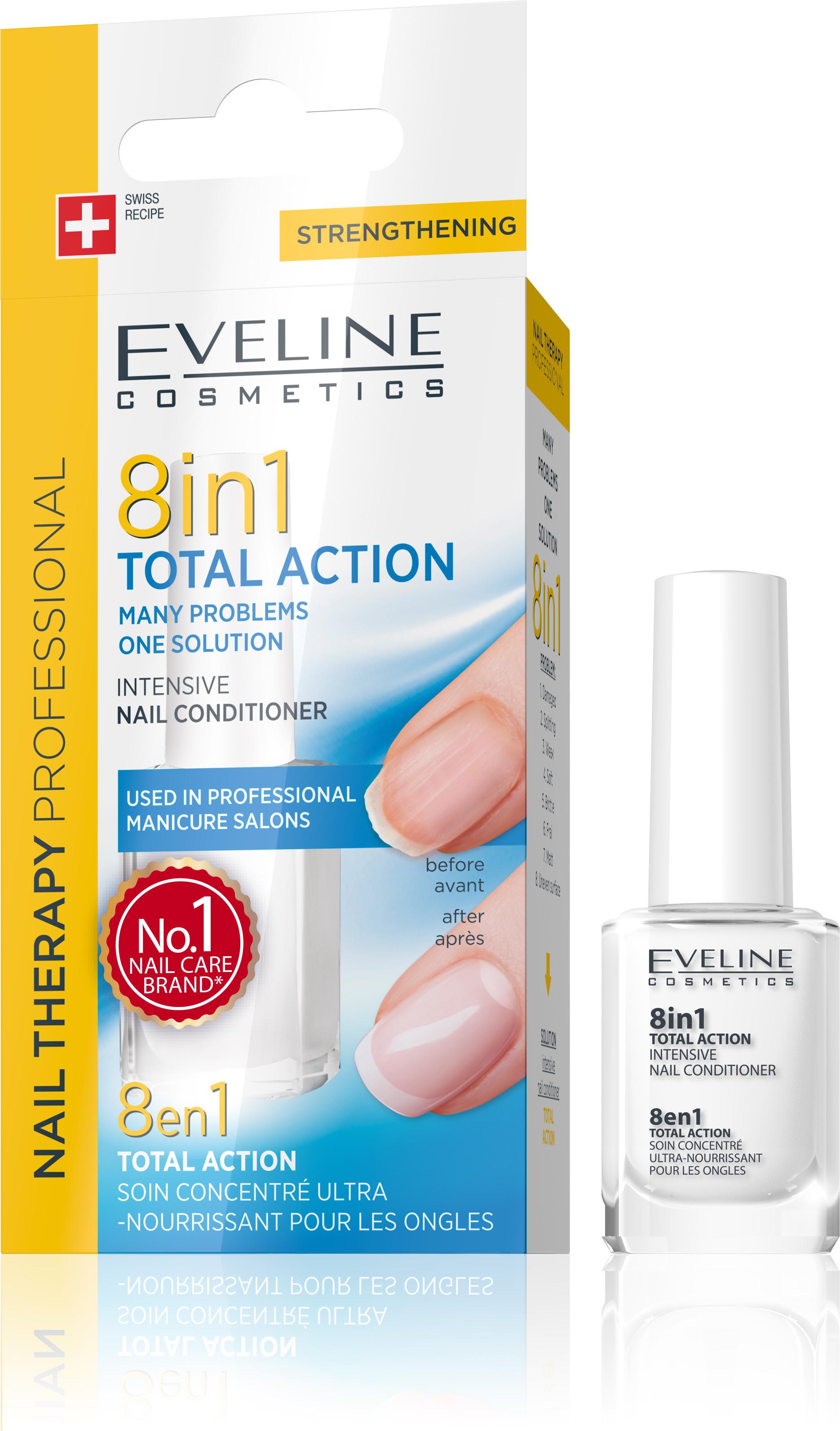 Eveline Lak Na Nechty Total Action 8v1 Eveline Cosmetics Eveline Eu Sk