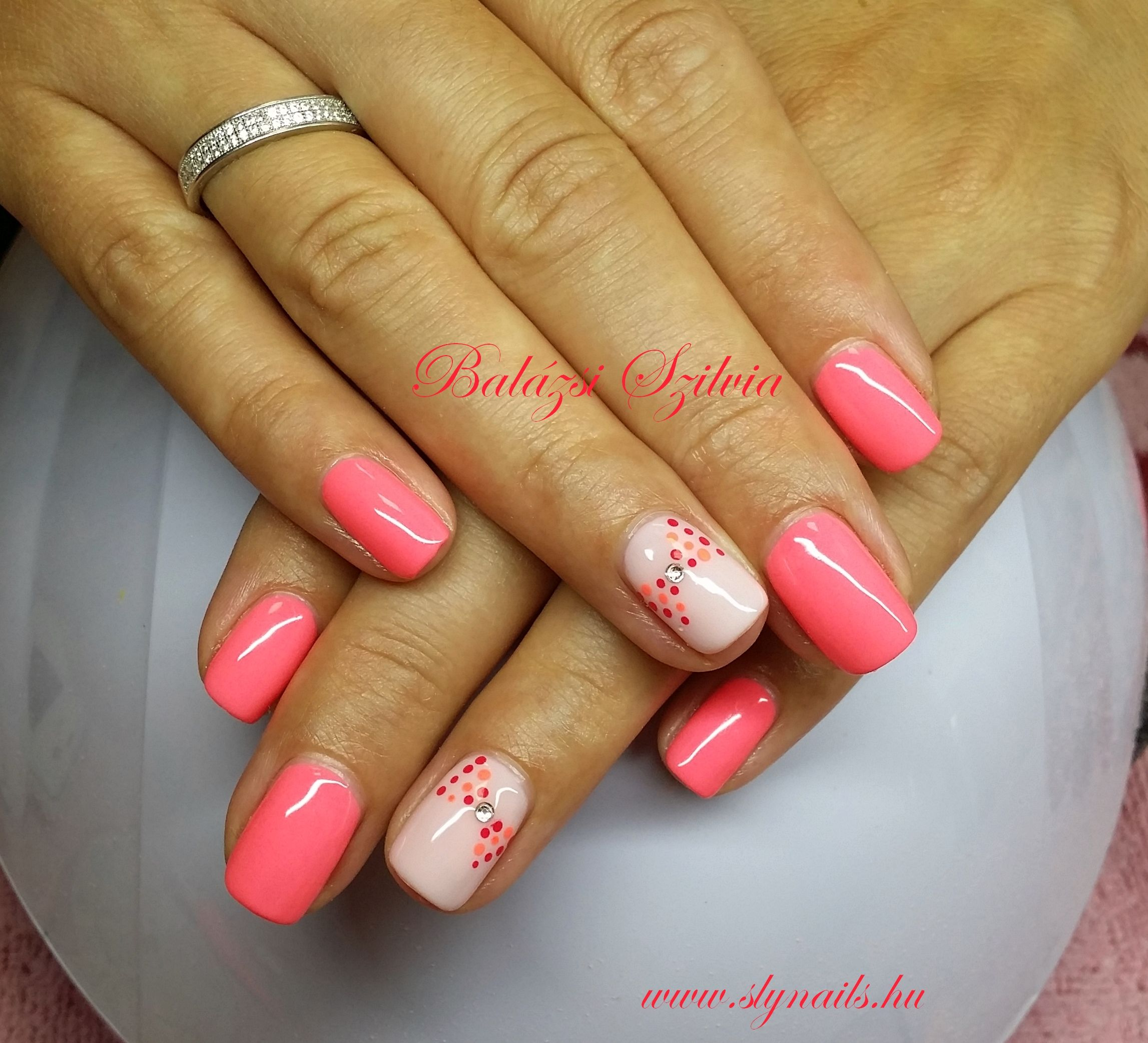 Neon Pink Gel Lakk Pink Nails Pretty Acrylic Nails Floral Nails
