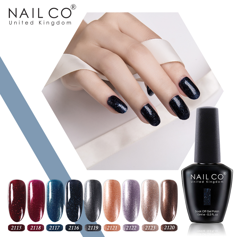Nailco Shining Glitter Color Uv Gel Nail Polish Manicure Led Gel Varnish Soak Off Gel Lak Nail Art Design Gel Lacquer Unghie Set Nail Gel Aliexpress