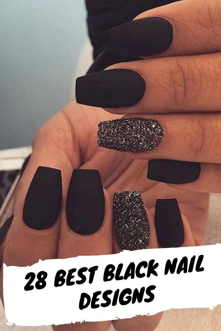 28 Best Black Nail Designs For Glowing Beauty Gelove Nehty Nehet Nehty