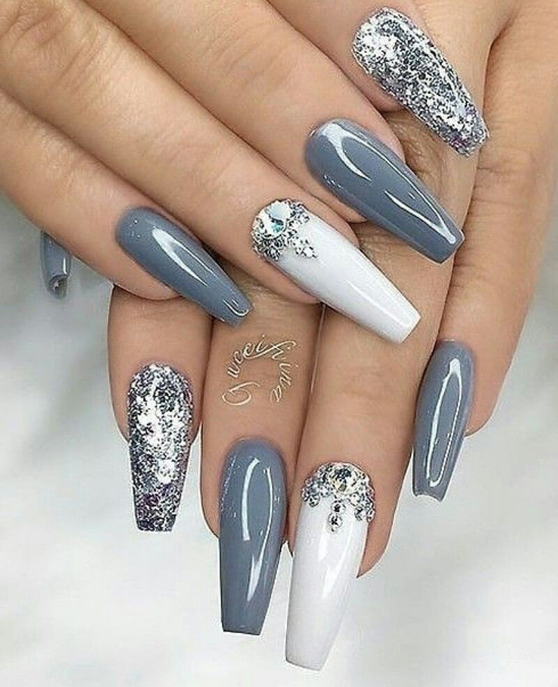 I Would Want These To Be Matte Nehet Stribrne Nehty Dlouhe Nehty