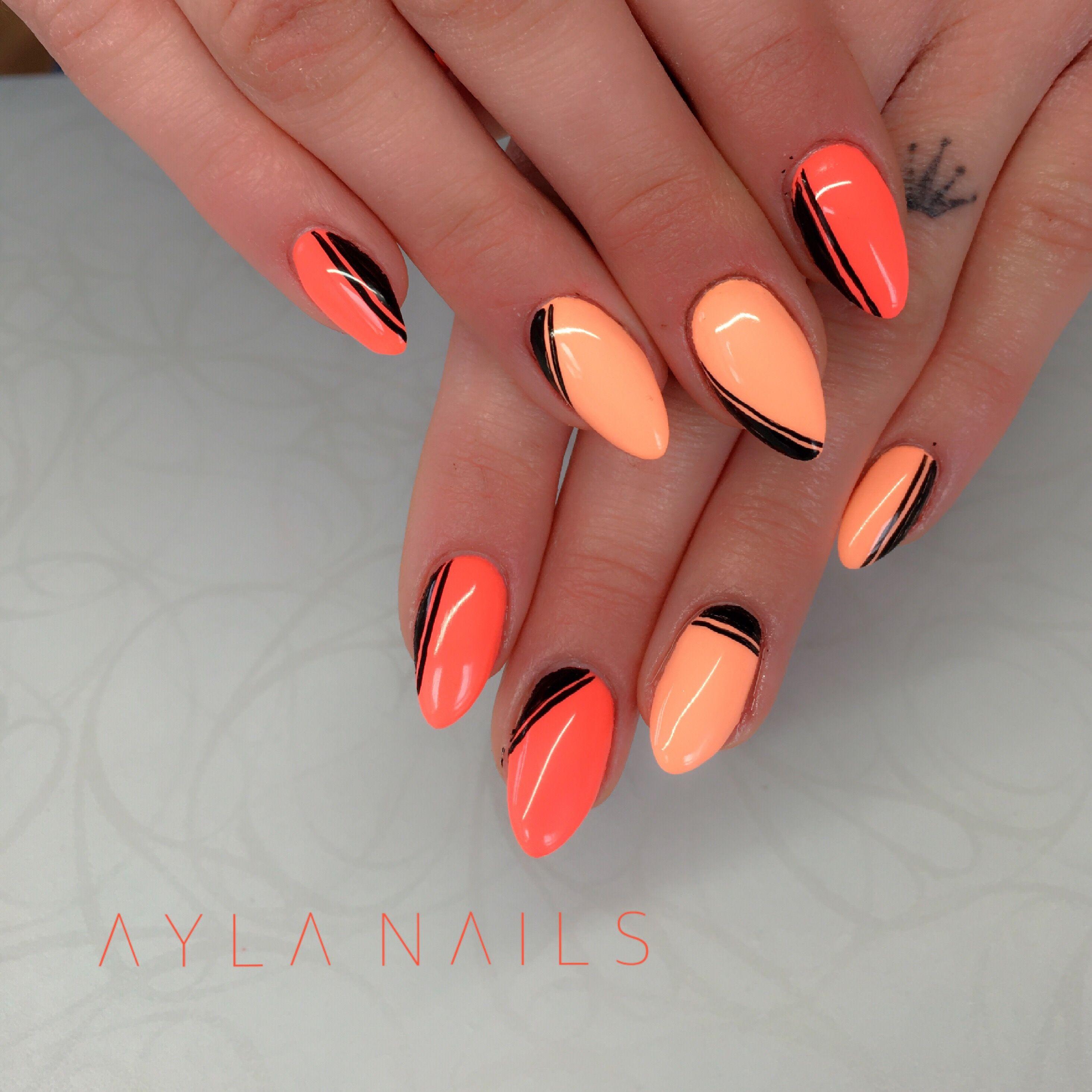 Gelové Oranžové Nehty