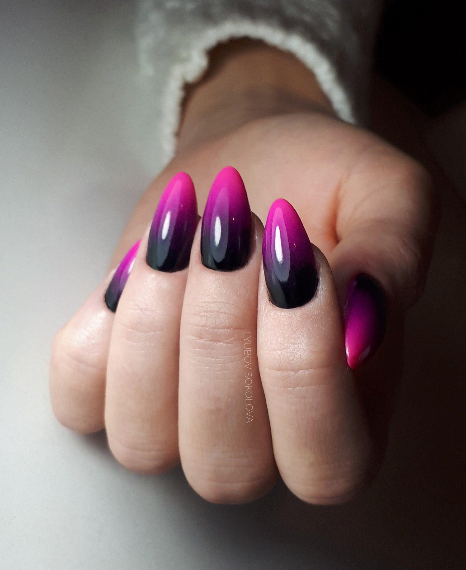 Pin By Monika Pivovarnikova On Nails Manik Pink Black Nails Fashion Nails Pink Nails