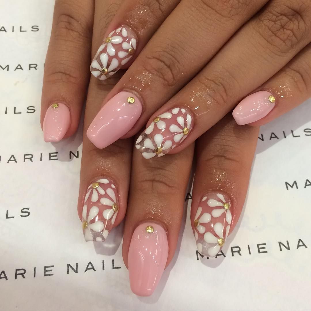 100 Cutest Nail Designs Summer Acrylic Nehty