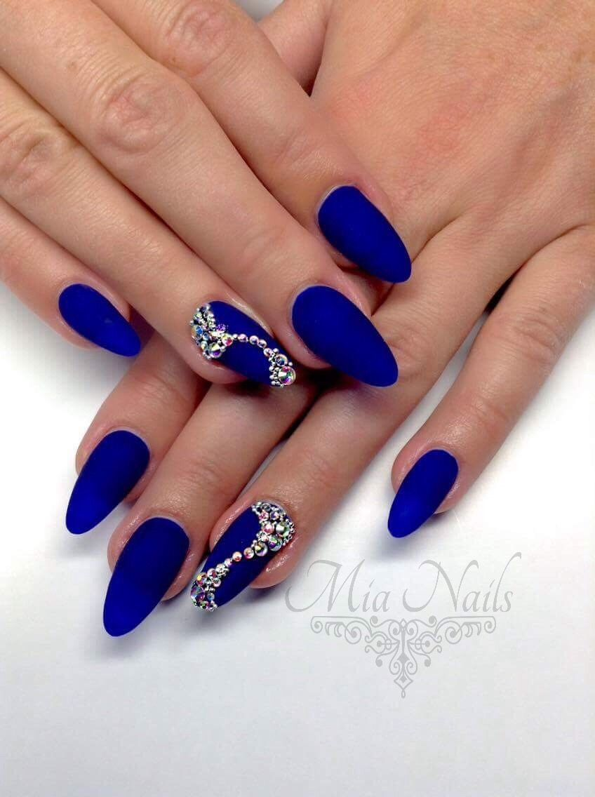 Pin By Miriam Bielikova On Nails Nail Art Diy Nail Designs Blue Nails