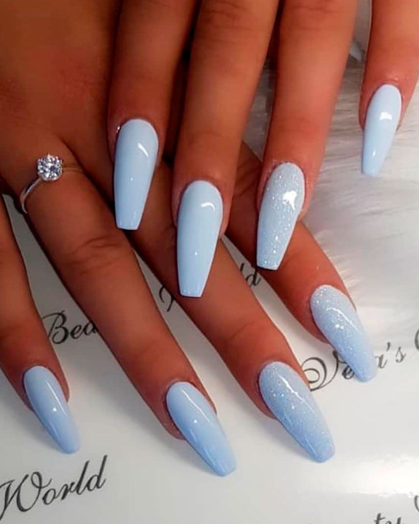 The Best Coffin Nails Ideas That Suit Everyone Barevne Nehty Gelove Nehty Umele Nehty