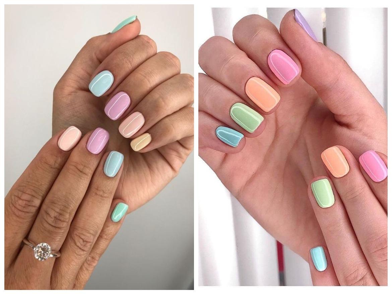 Nehty Pastelové Barvy