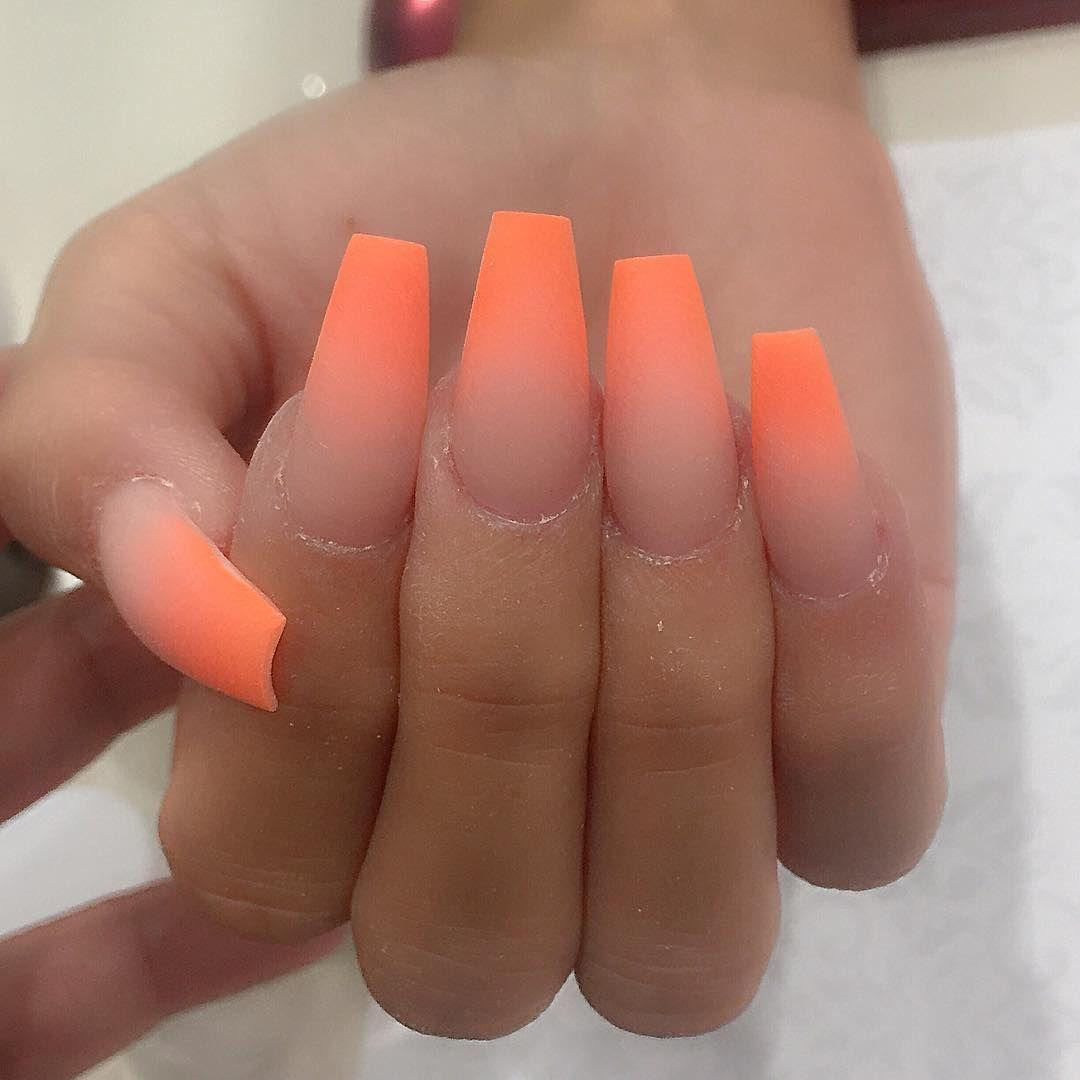 Ombré Nehty Oranžové