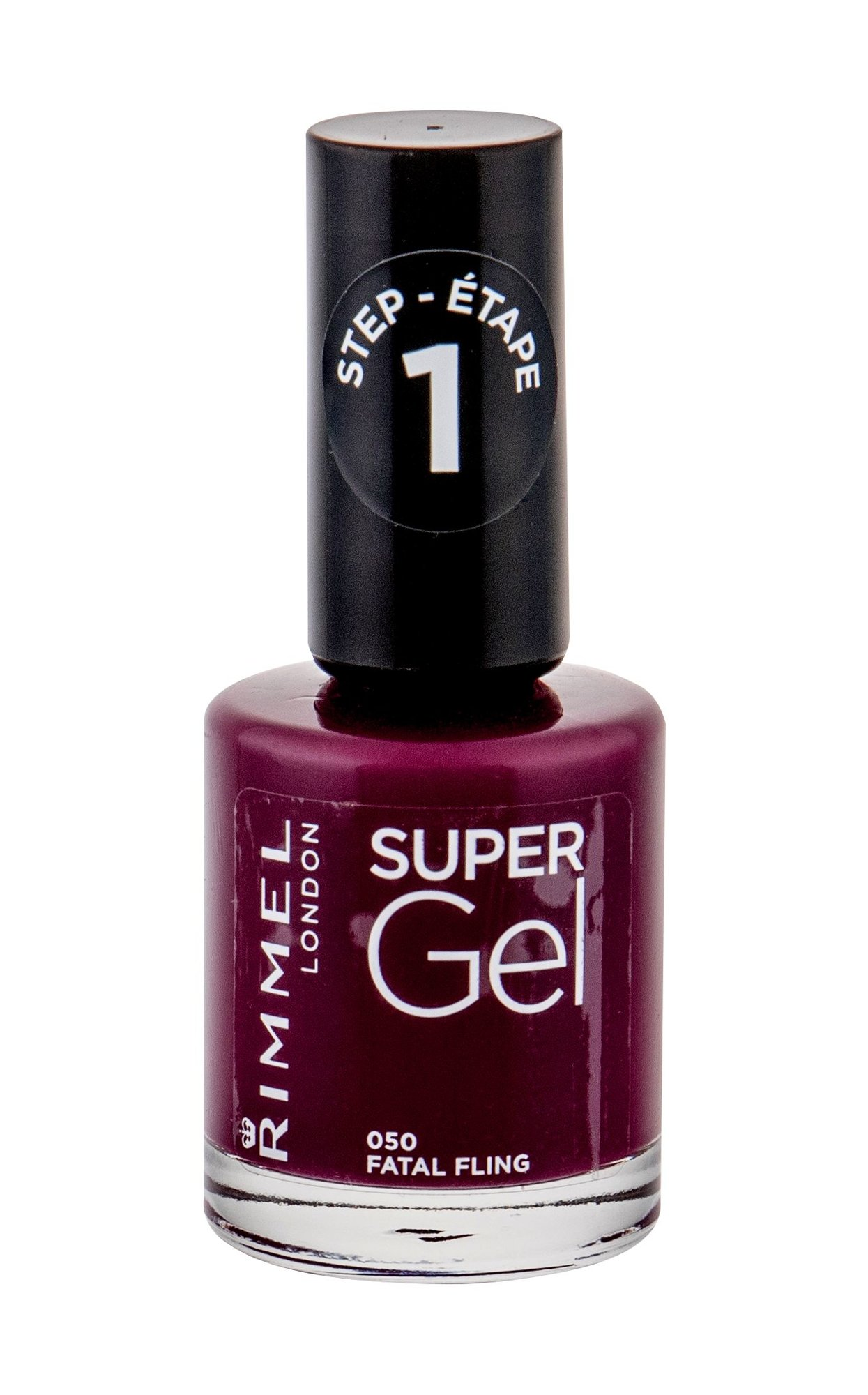Rimmel London Super Gel Step1 050 Fatal Fling Lak Na Nechty 12ml Parfumela Sk