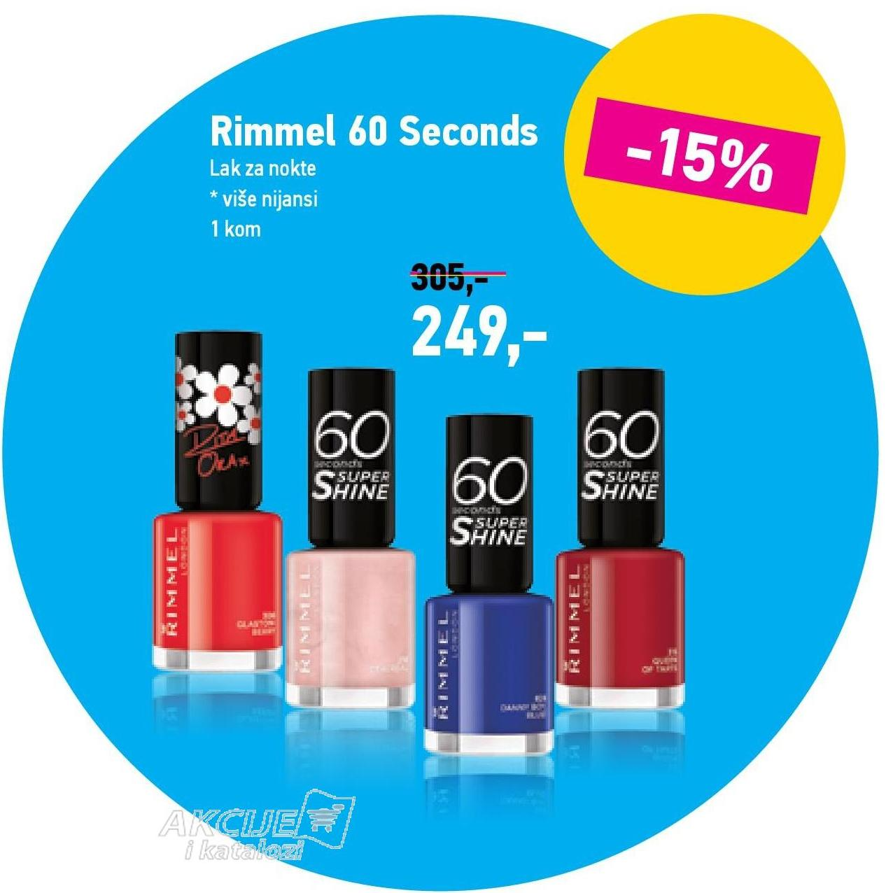 Akcija Lilly Rimmel Lak Za Nokte 60 Seconds 683745