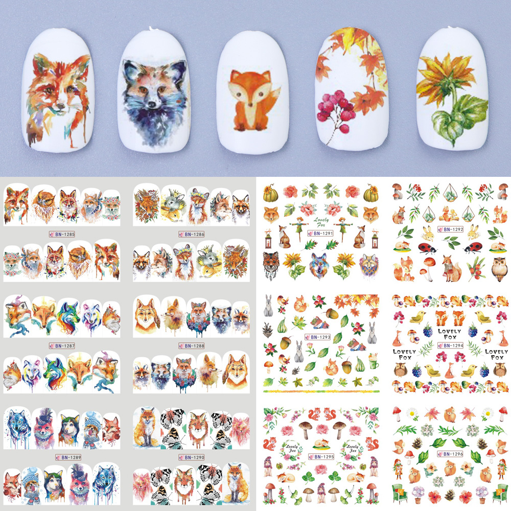 Eauty Health New Stickers For Nails Art Water Decals Decorations Animals Fox Rabbit Tattoos Sliders Foils Polish Manicure Trbn128 Acrylic Nail Kits Acrylic Nails Supplies From Hao Tattoos 4 4 Dhgate Com