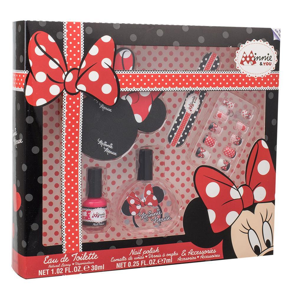 Disney Minnie Mouse Darkova Kazeta Pro Deti Toaletni Voda 30 Ml Lak Na Nehty 7 Ml Pilnik Na Nehty Umele Nehty Oddelovac Prstu Elnino Cz
