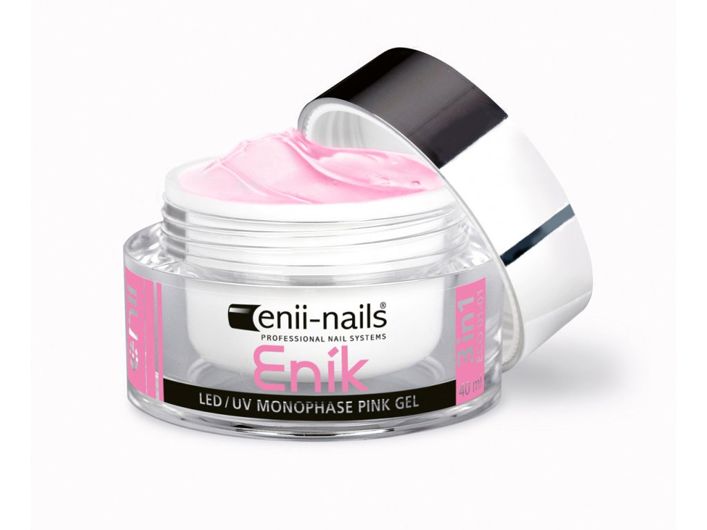 Enik Led Uv Gel Pink Jednofazovy 40 Ml Enii Nails