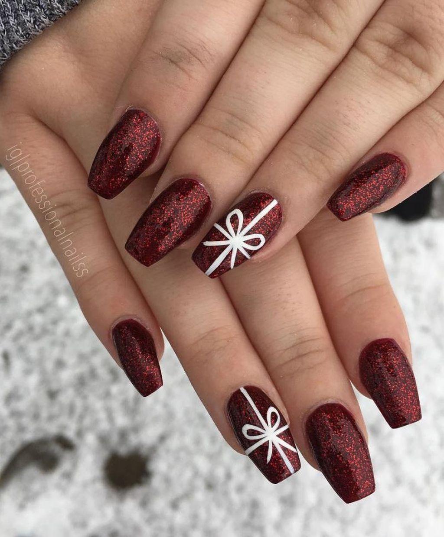 Vánoční Gelové Nehty 2018