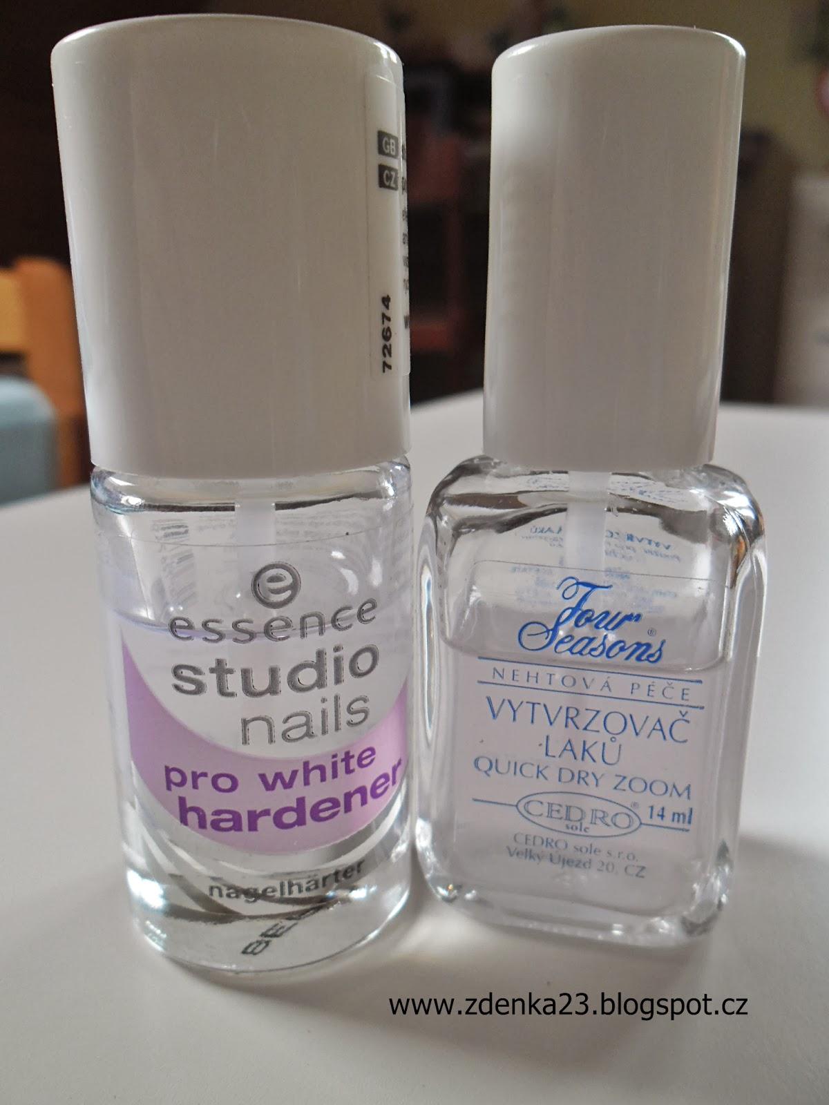 Zdenka Skodova Essence Studio Nails Pro White Hardener Four Seasons Vytvrzovac Laku