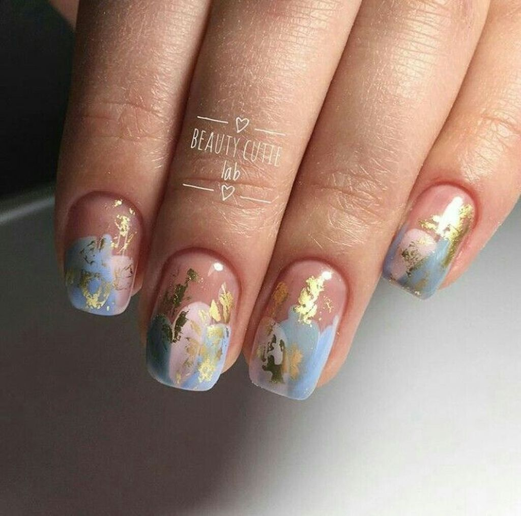 48 Charming Gold Nail Art Designs Ideas For 2019 Womens Nehty