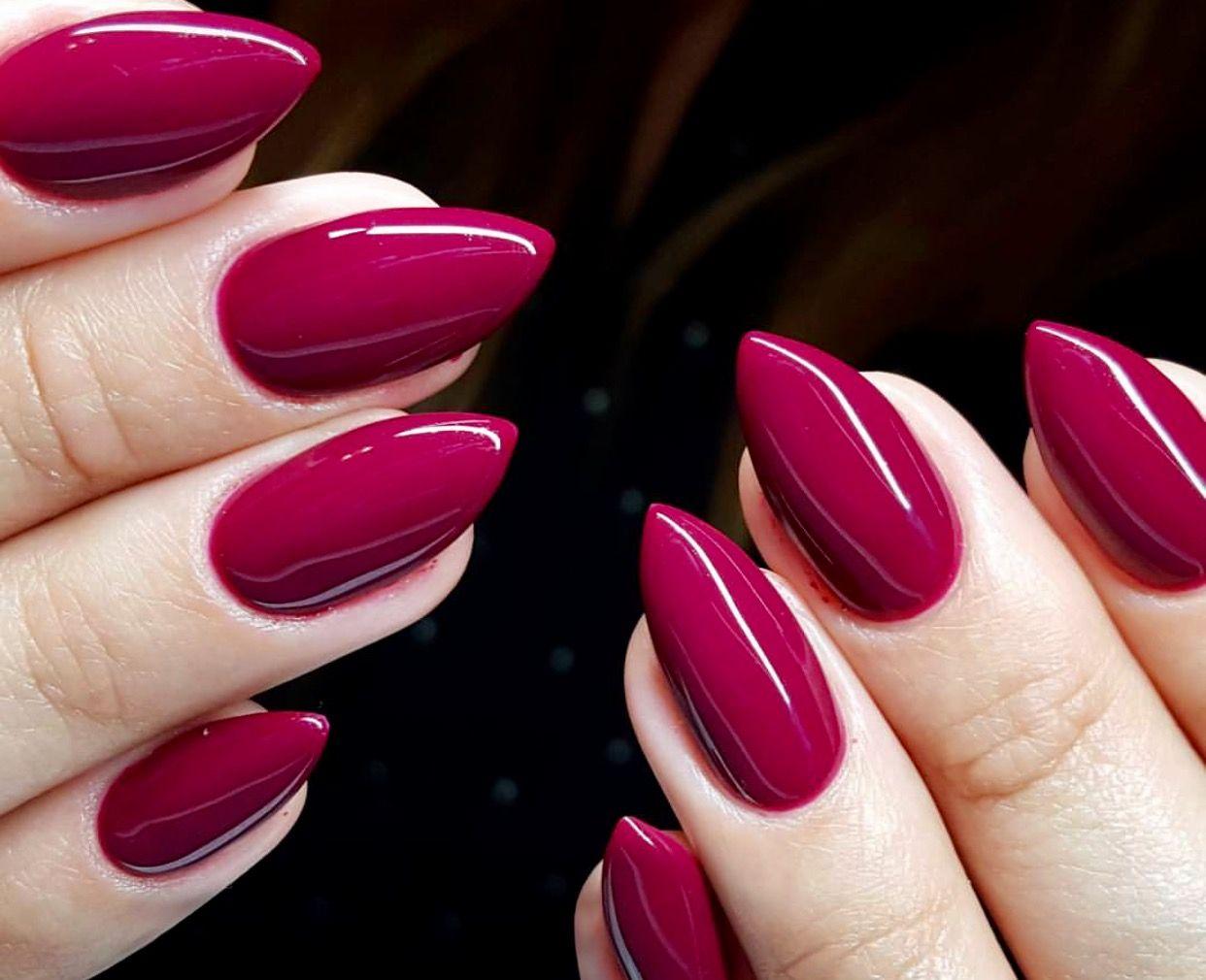 Pin By Veronika Vokurkova On Inspirujace Indigo Nails Magenta Nails Sns Nails Colors