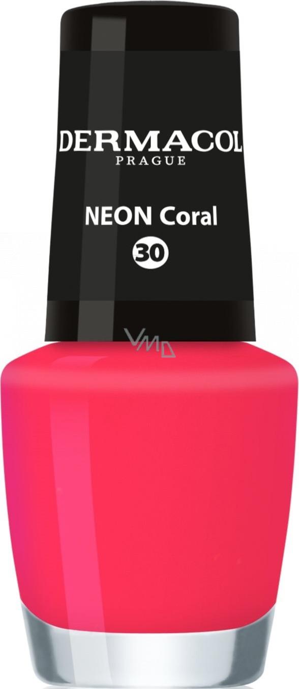 Dermacol Neon Nail Polish Neonovy Lak Na Nehty 30 Neon Coral 5 Ml Vmd Drogerie A Parfumerie