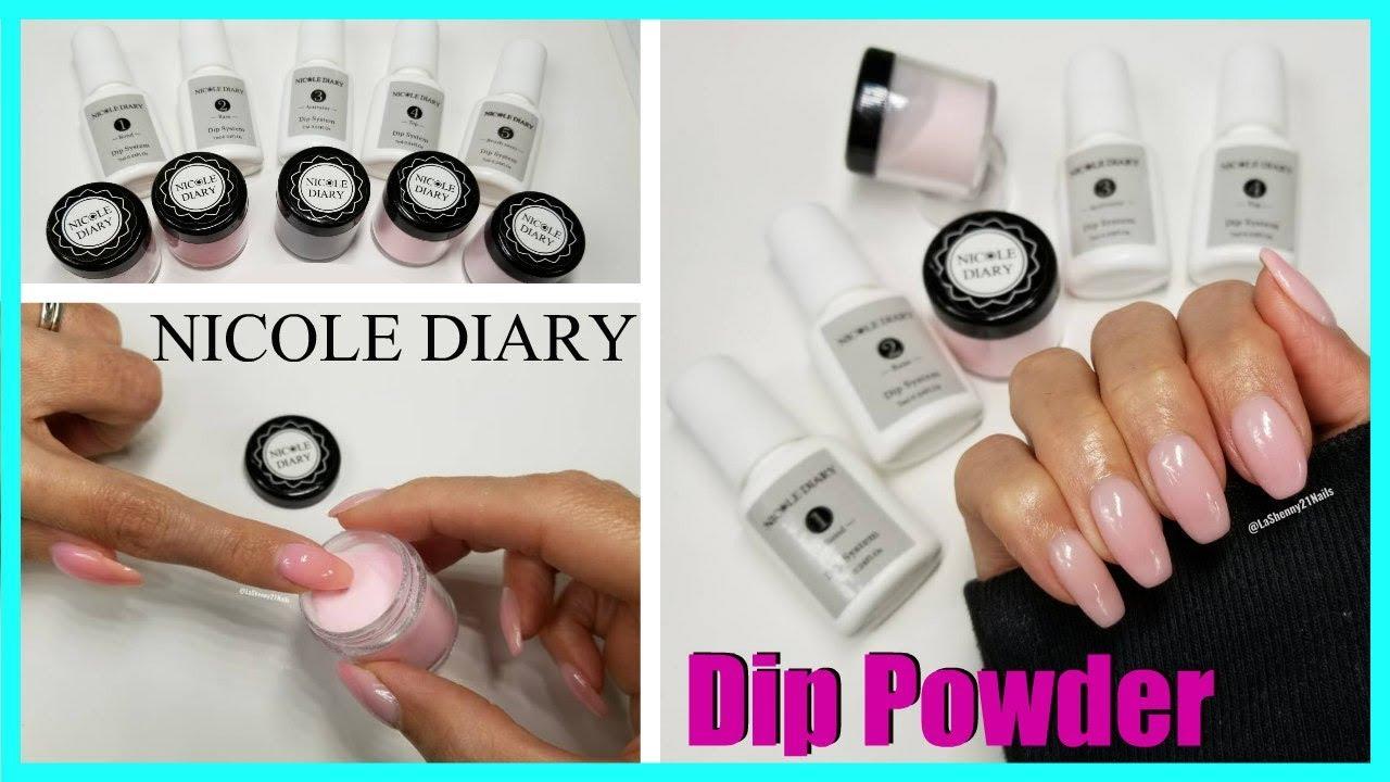 Nicole Diary Dip Powder Nail Kit Jenny Stone Youtube