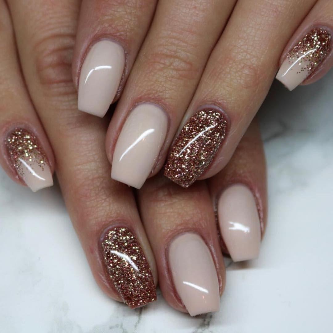 Cream No Sugar Colorgel With French Press Glittergel Mk Uniquenails Lightelegance Lerocks Sns Nails Colors Cute Nails For Fall Nail Designs