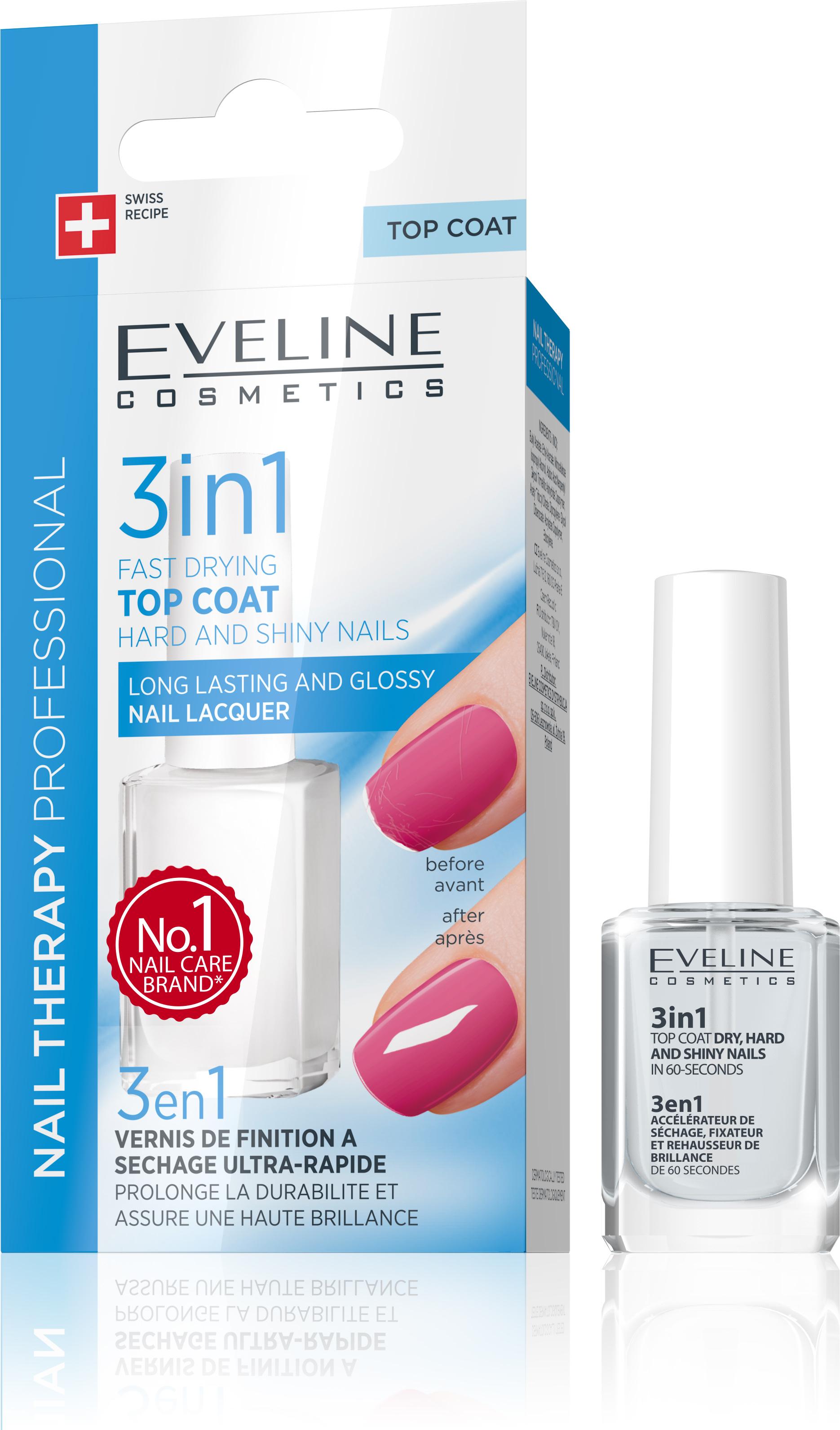Eveline Lak Na Nechty 3v1 Pre Tvrdost Lesk Vysusenie Za 60 Sek Eveline Cosmetics Eveline Eu Sk