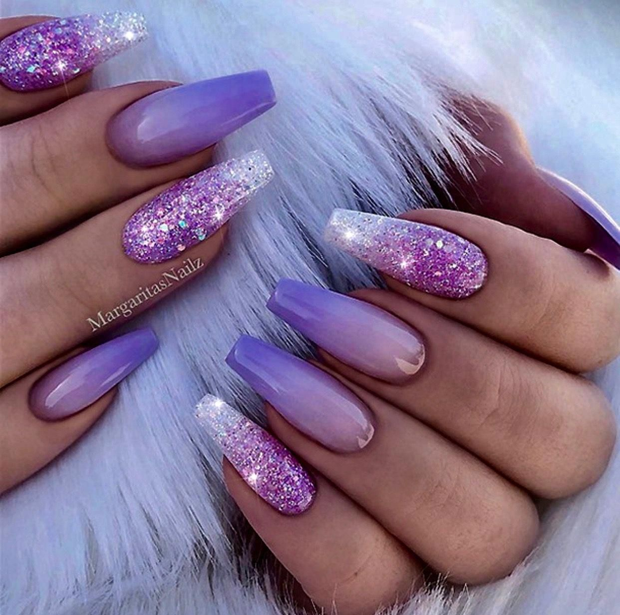 Purple My Favorite Color Acrylicnaildesigns Fialove Nehty Design Nehtu A Gelove Nehty