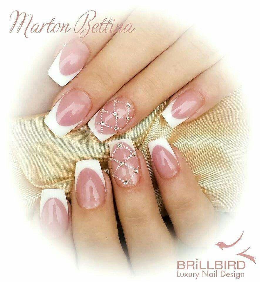 Francia Mukorom French Tip Nail Designs Nails Elegant Nails