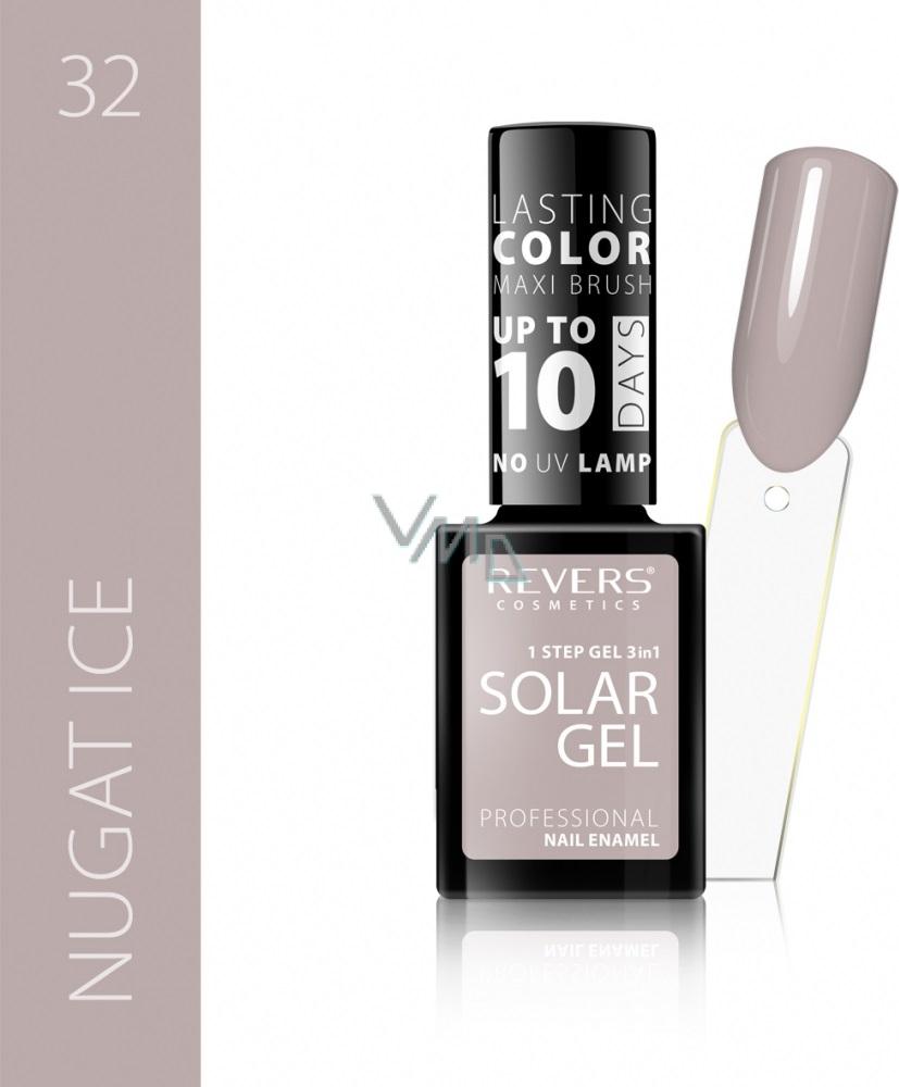 Revers Solar Gel Gel Nail Polish 32 Nugat Ice 12 Ml Vmd Parfumerie Drogerie