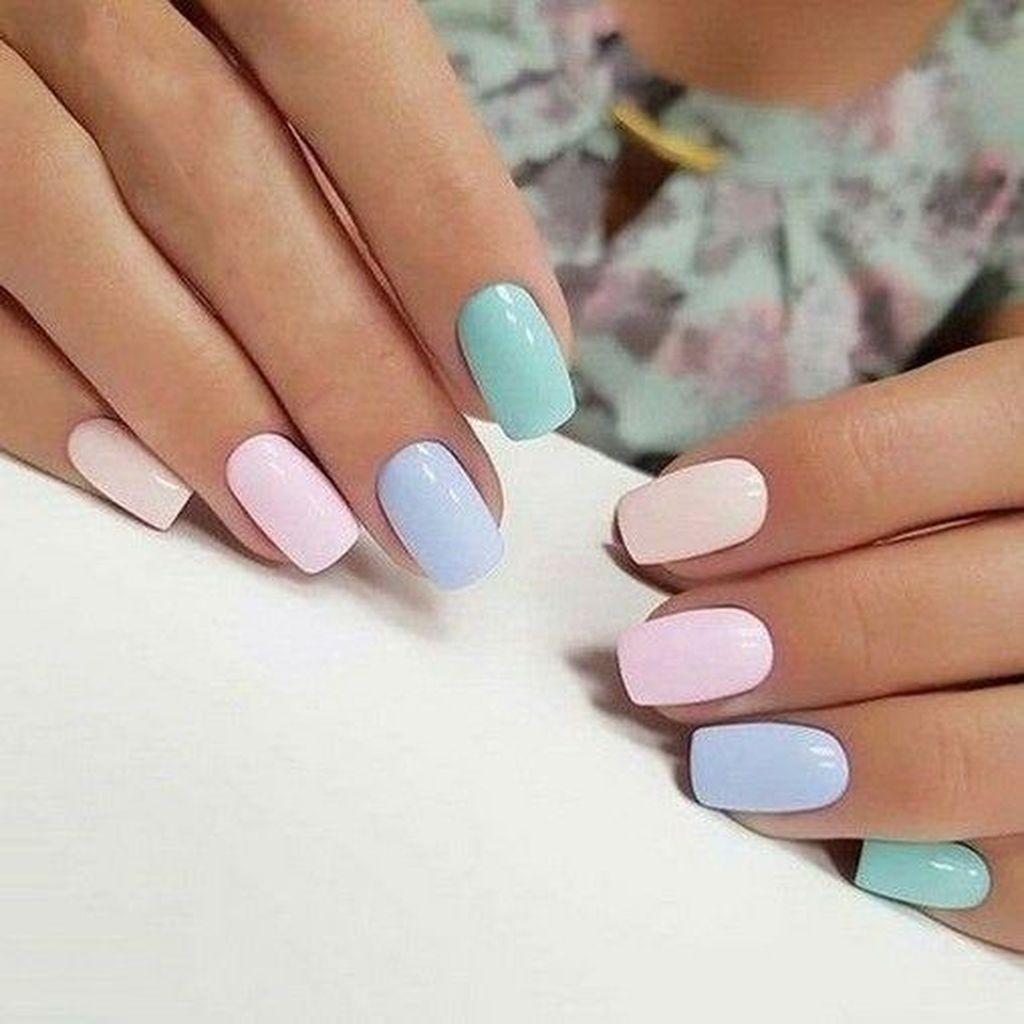 30 Easy Summer Nail Art Ideas Pastelove Nehty Gelove Nehty Kvetinove Nehty