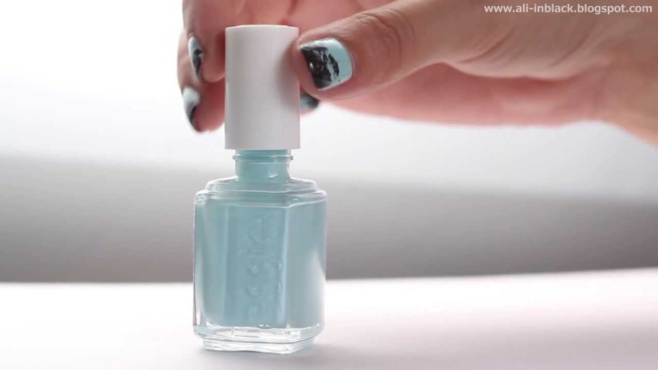 Minty Inky Nails Mentolove Inkoustove Nehty Youtube